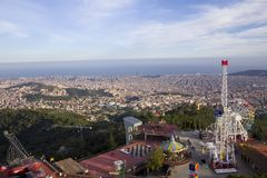 Vista de Barcelona, Tibidabo Imagem de Stock
