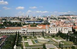Vista de Belem del monumento de los descubrimientos, Portugal Fotografía de archivo libre de regalías