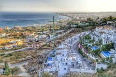 Vista de Benalmadena e de Fuengirola Imagens de Stock