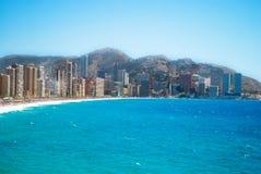 Vista de benidorm, Espanha, no verão Imagem de Stock Royalty Free
