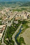 Vista de Berat de las colinas Fotos de archivo libres de regalías
