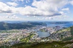Vista de Bergen foto de archivo libre de regalías