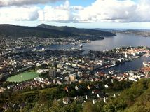 Vista de Bergen Foto de Stock Royalty Free