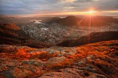 Vista de Bergen Fotos de archivo