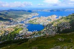 Vista de Bergen Imagens de Stock