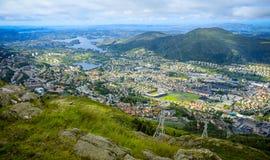 Vista de Bergen Fotos de Stock