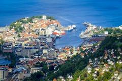 Vista de Bergen Imagens de Stock Royalty Free
