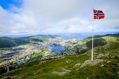 Vista de Bergen Foto de Stock