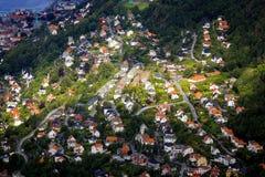 Vista de Bergen imagem de stock