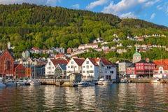 Vista de Bergen en Noruega fotos de archivo libres de regalías
