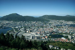 Vista de Bergen, Noruega Fotos de archivo libres de regalías