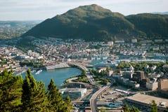 Vista de Bergen, Noruega Imagens de Stock