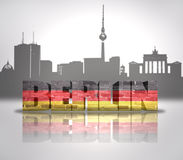 Vista de Berlín Imagen de archivo