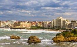Vista de Biarritz - Francia Foto de archivo libre de regalías