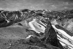 Vista de Bláhnjúkur, Islândia Imagem de Stock