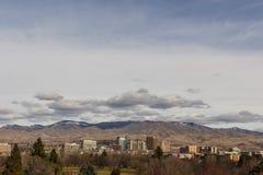 Vista de Boise céntrico de enfrente de Kathryn Albertson Park fotografía de archivo libre de regalías