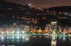 A vista de Botafogo e Guanabara latem em Rio de janeiro imagens de stock royalty free