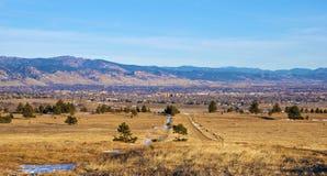 Vista de Boulder, Colorado Fotos de archivo