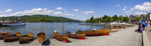 Vista de Bowness-em-Windermere Fotografia de Stock