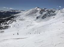 Vista de Breckenridge Ski Slopes del top Imágenes de archivo libres de regalías