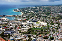 Vista de Bridgetown (Barbados) fotos de archivo