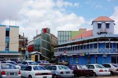 Vista de Bridgetown céntrico, de la ciudad capital y más grande de Barbados Fotos de archivo libres de regalías
