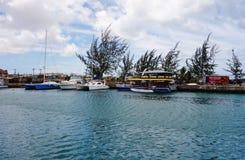 Vista de Bridgetown céntrico, de la ciudad capital y más grande de Barbados Imagen de archivo