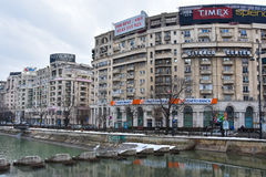 Vista de Bucareste de Union Square Imagem de Stock Royalty Free