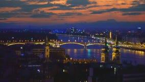 Vista de Budapest de cima de vídeos de arquivo