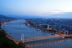 Vista de Budapest en la salida del sol Imagen de archivo
