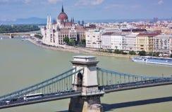 Vista de Budapest, Hungria Fotografia de Stock Royalty Free