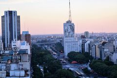 Vista de Buenos Aires, Argentina, 18a de fevereiro de 2017 Fotografia de Stock
