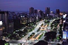 Vista de Buenos Aires, Argentina, 18a de fevereiro de 2017 Imagem de Stock