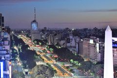 Vista de Buenos Aires, Argentina, 18a de fevereiro de 2017 Fotos de Stock