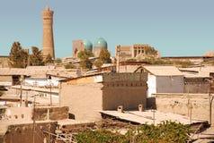 Vista de Bukhara velho fotos de stock royalty free