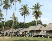 Vista de bungalows de madeira na ilha do coelho Imagem de Stock Royalty Free