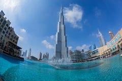 Vista de Burj Khalifa Imagen de archivo