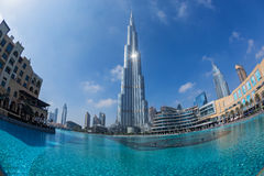 Vista de Burj Khalifa Foto de archivo