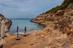 Vista de Cala Greca, Lampedusa imagens de stock royalty free