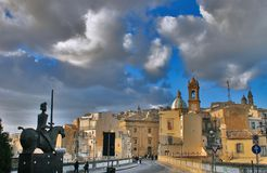 Vista de Caltagirone foto de stock royalty free