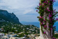 Vista de Capri fotos de stock