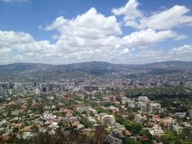 Vista de Caracas do parque nacional de Avila Foto de Stock Royalty Free