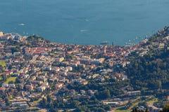 Vista de Cardada, Locarno, cantão Ticino switzerland imagem de stock
