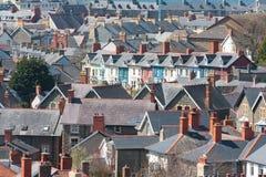 Vista de casas Fotos de archivo libres de regalías