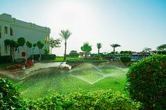 Vista de casas de campo árabes do estilo no hotel de luxo Foto de Stock Royalty Free