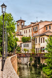 Vista de casas velhas em Pádua Italia imagem de stock