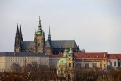 Vista de Castke de Praga Imagenes de archivo