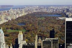 Vista de Central Park de la azotea del edificio de rockefeller Foto de archivo libre de regalías