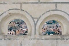 Vista de Cesky Krumlov Fotos de archivo