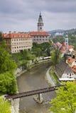 Vista de Cesky Krumlov, república checa Imagem de Stock Royalty Free